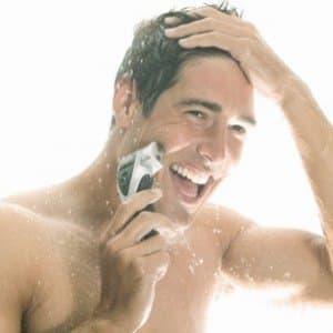 scheren onder de douche