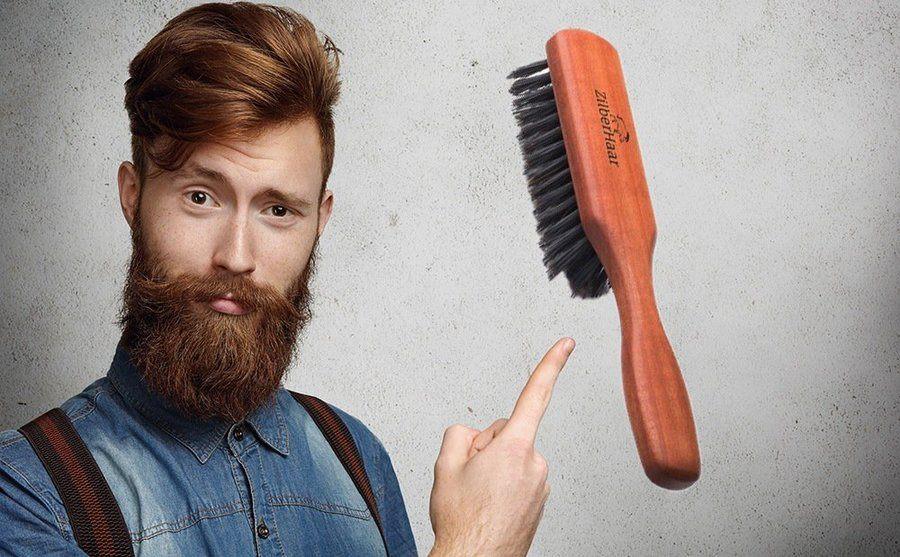 Baardborstel voor baardgroei