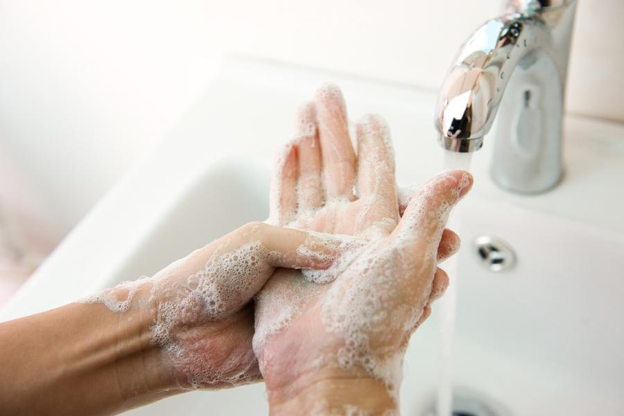 Handen wassen zeep