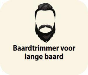 trimmer voor lange baard