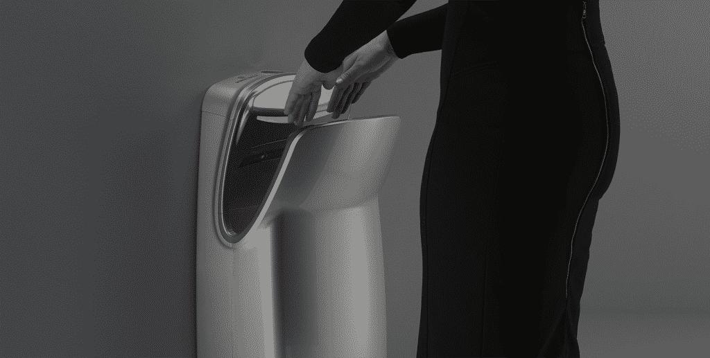 handen drogen na het wassen